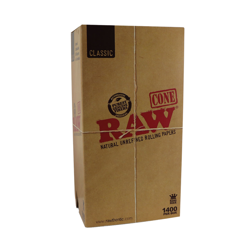 Raw Pre-Rolled King Size 1400 Cones Box - The Green Box Australia