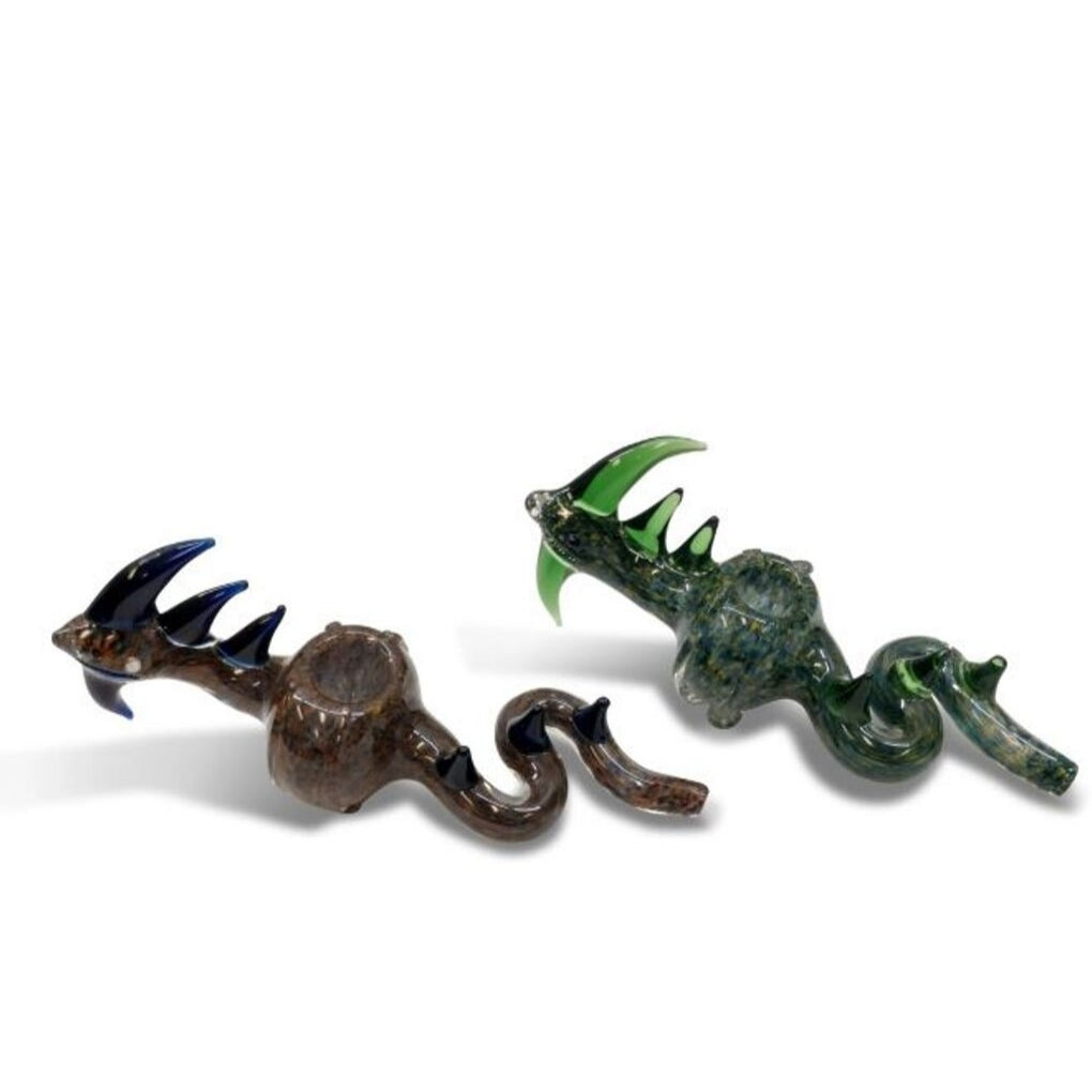 Glass Hand Pipe - Fish Dragon (4163578560548)