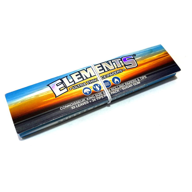 Elements Connoisseur King Size Slim Rolling Papers and Tips - The Green Box