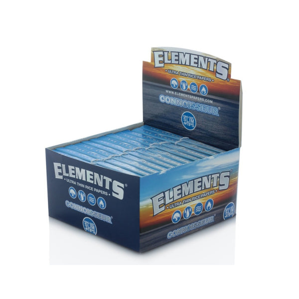 Full Box - Elements Connoisseur King Size Slim Rolling Papers and Tips - The Green Box Australia (4377420300323)