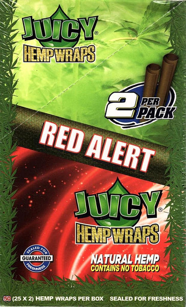Full Box - Juicy Jays Hemp Wraps - Red Alert (Strawberry) - The Green Box Australia (4440300847139)