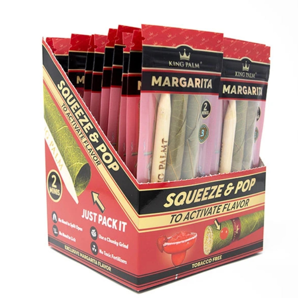 Full Box - Margarita King Palm Super Slow Burning Wraps Pack with 2 Mini Rolls - Holds 1g each - The Green Box Australia (4553493643299)