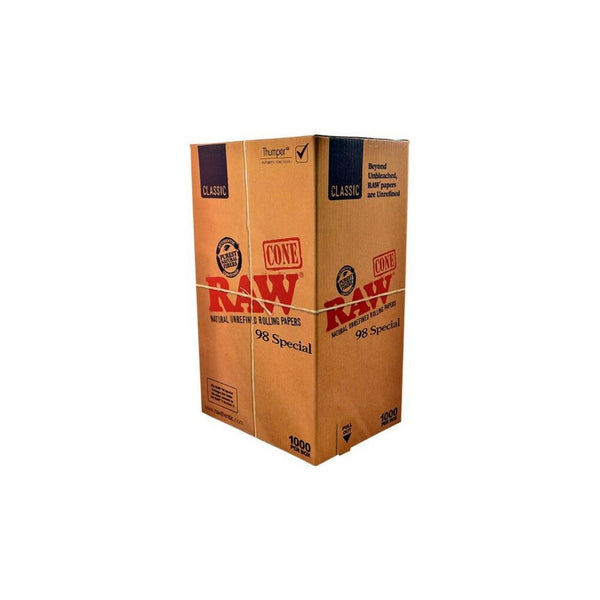Raw Pre-Rolled 98 Select 1000 Cones Box - The Green Box Australia (4395339448355)