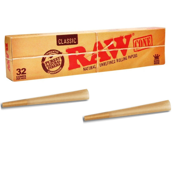 Raw Pre-Rolled Kingsize Classic 32 Cones - The Green Box Australia