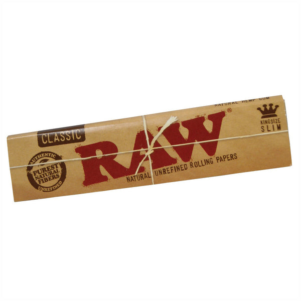 Raw Kingsize Slim Rolling Papers (Classic) - The Green Box Australia (614120063012)