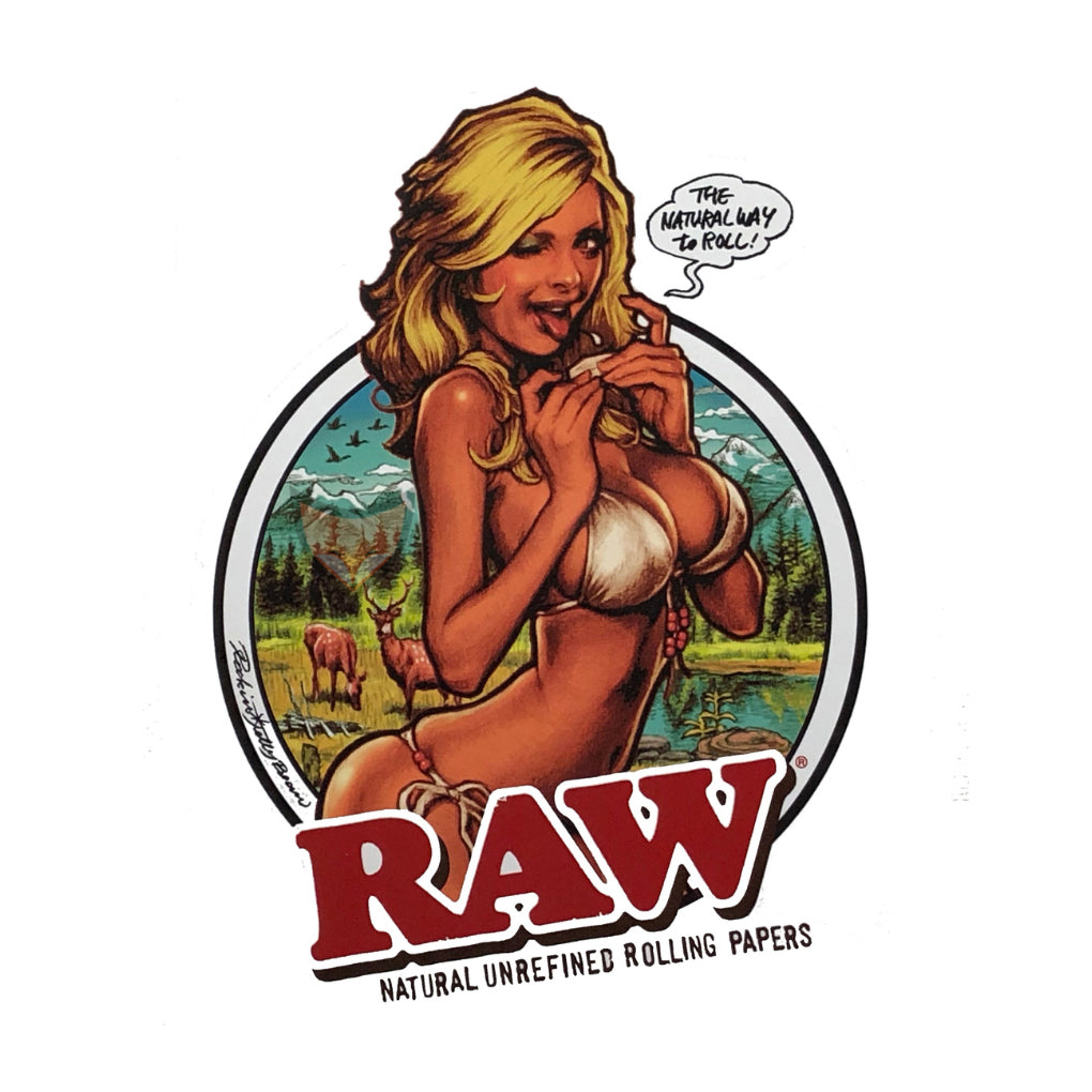 RAW Girl Sticker (884722073636)