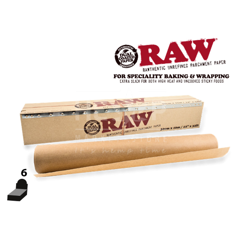 Raw Unrefined Parchment Paper 300mm - The Green Box Australia (4395037327395)