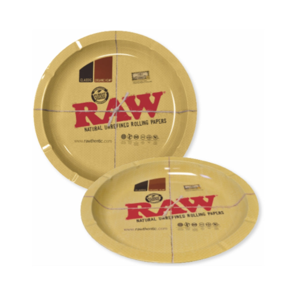 Raw Round Metal Rolling Tray - The Green Box Australia (4395093590051)