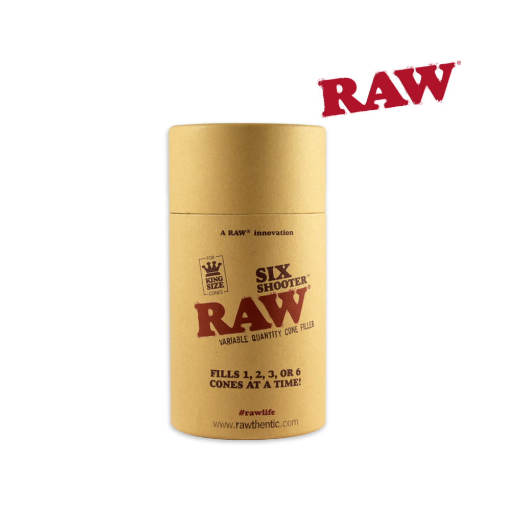 Raw Six Shooter for King Size pre rolled cones - The Green Box Australia