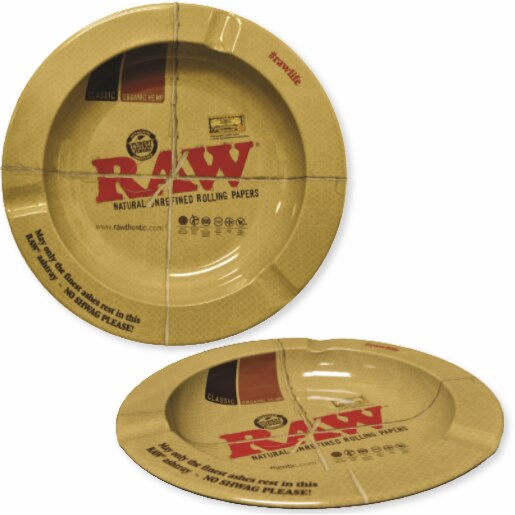 Raw Small Round Metal Ashtray (4376152768547)