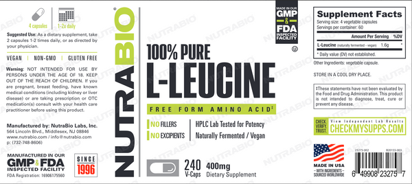 Leucine Powder 500 Grams