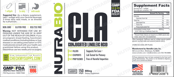 CLA (800mg) - 150 Softgels