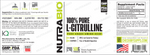 NutraBio L-Citrulline 250 Servings