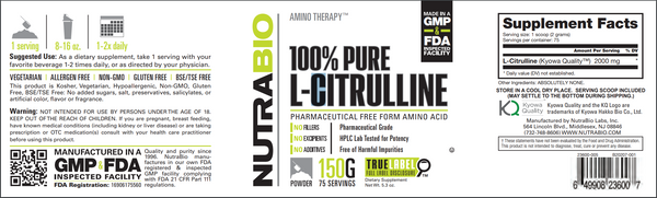 L-Citrulline Powder 150 Grams
