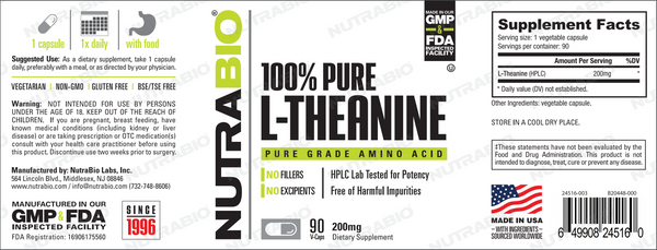 L-Theanine 200mg 90caps