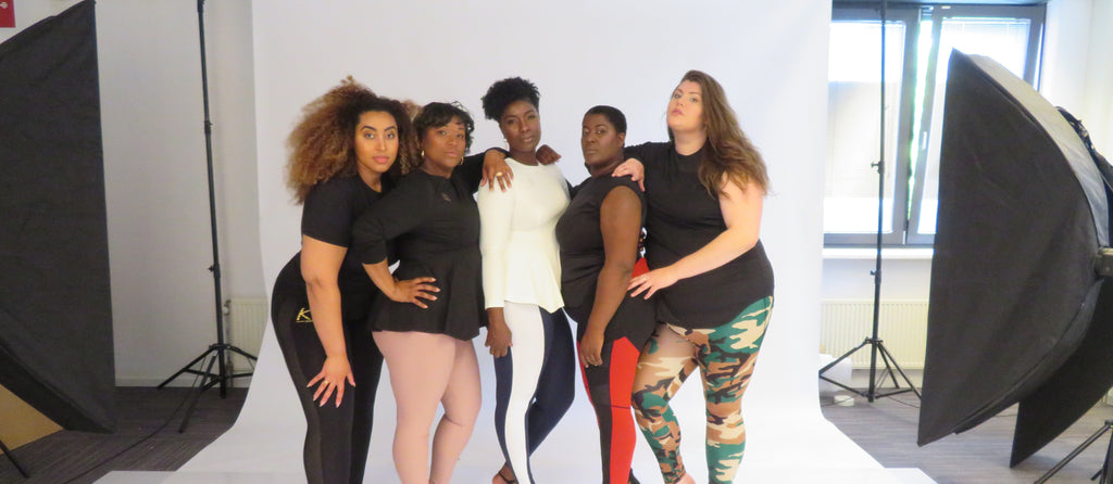 group photoshoot curvy women
