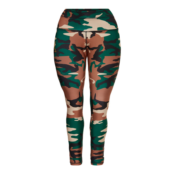 curvy plus size camouflage legging squat proof non see through