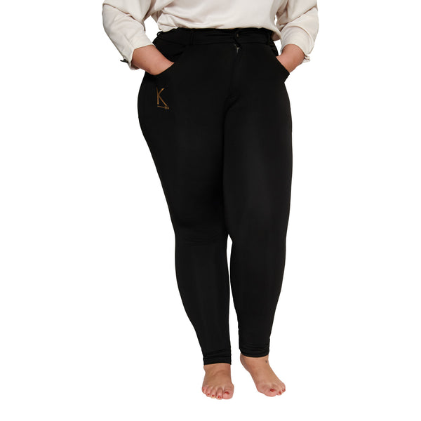 Black Jeggings Plus Size Curvy Pants Trousers