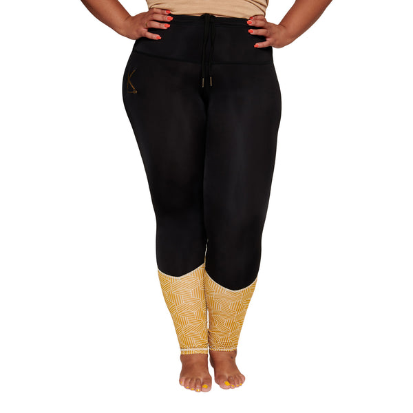 patterned calfs plus size curvy leggings