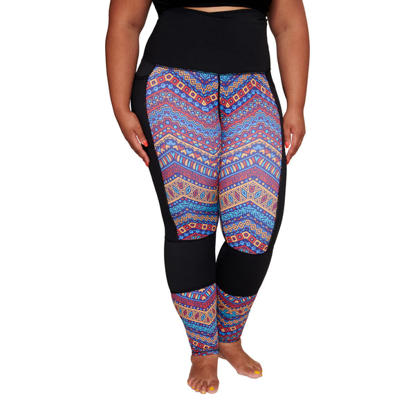 Colorful Africa Plus Size Curvy Leggings