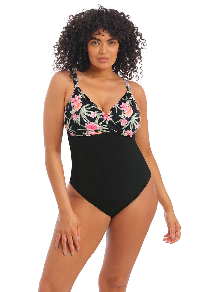 PREORDER | Dark Tropics Non-Wired Moulded Swimsuit | Elomi