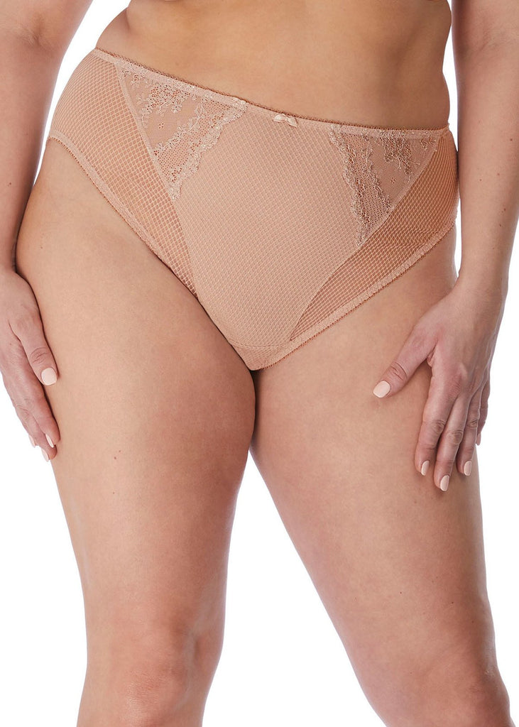 Charley High Leg Brief Fawn | Elomi