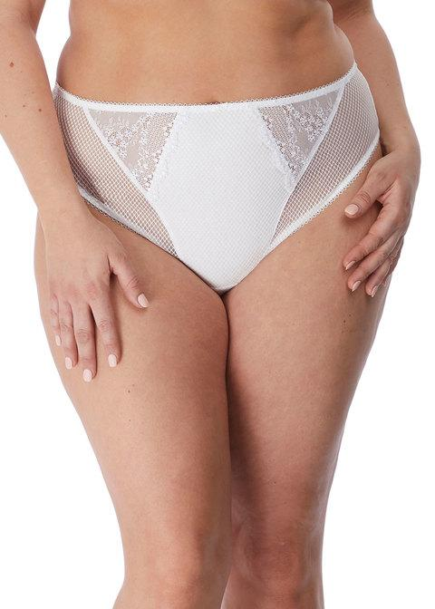 Charley High Leg Brief White | Elomi
