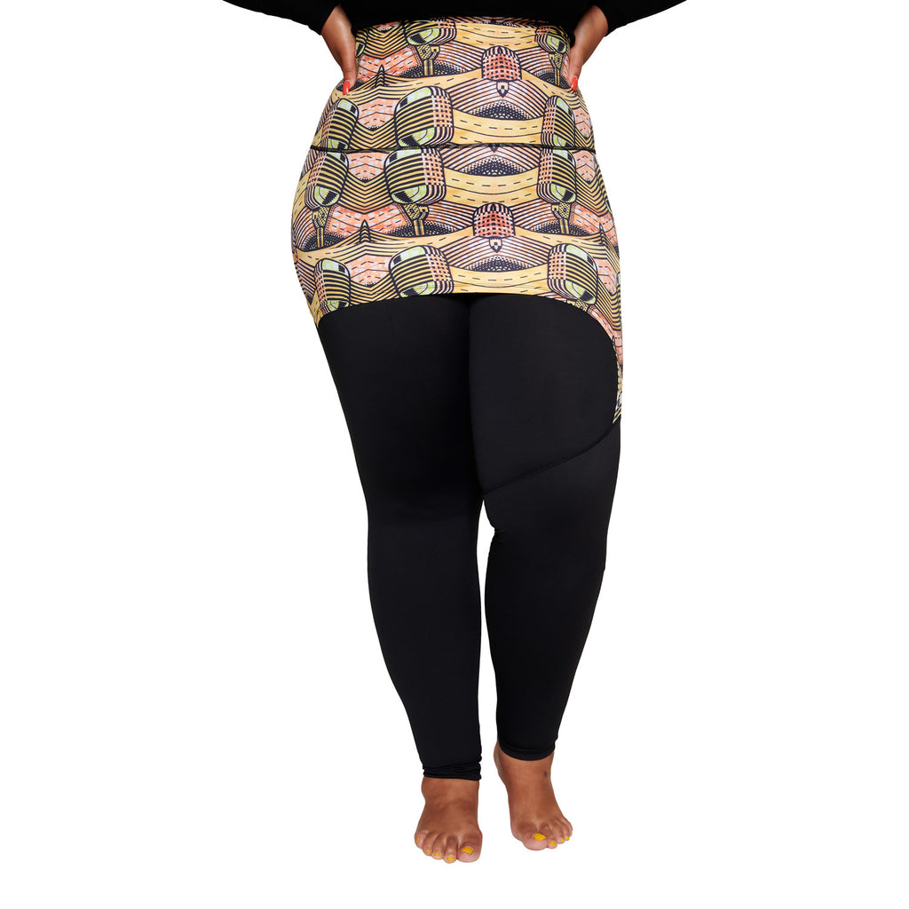 Musical skirt plus size curvy leggings