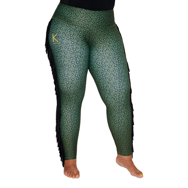 Cat Tassels Plus Size Curvy Leggings