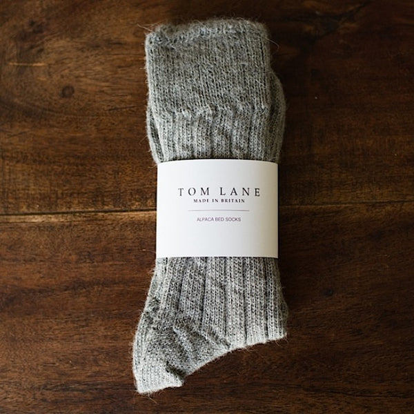 Grey Alpaca Bed Socks - Tom Lane