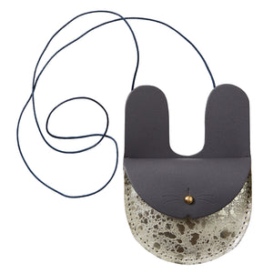 Honey + Toast - Bunny Purse (Grey/Gold)