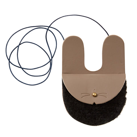 Honey + Toast - Bunny Purse (Black Shearling)