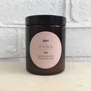 EXCLUSIVE - Sandalwood + Pink Peppercorn HOBO Soy Candle
