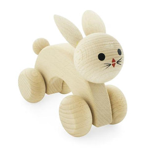 Wooden Bunny - Push-Along Toy
