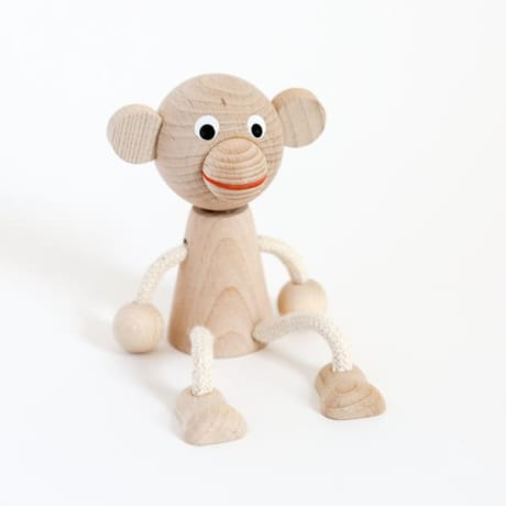 Sitting Monkey Wooden Toy