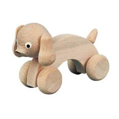 Wooden Dog - Push-Along Toy