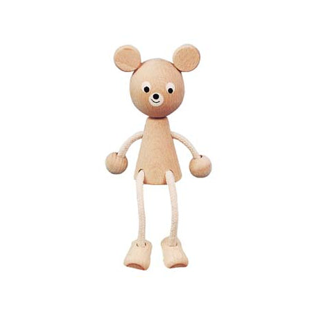 Sitting Bear Wooden Toy