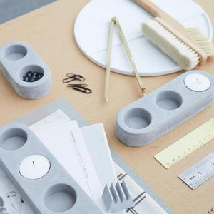 Blok Tealight Holder - Grey (Various Sizes)