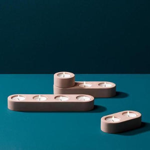 Blok Tealight Holder - Pink (Various Sizes)