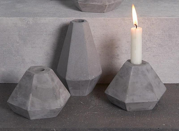 Korridor - Concrete Candle Holder (Short)