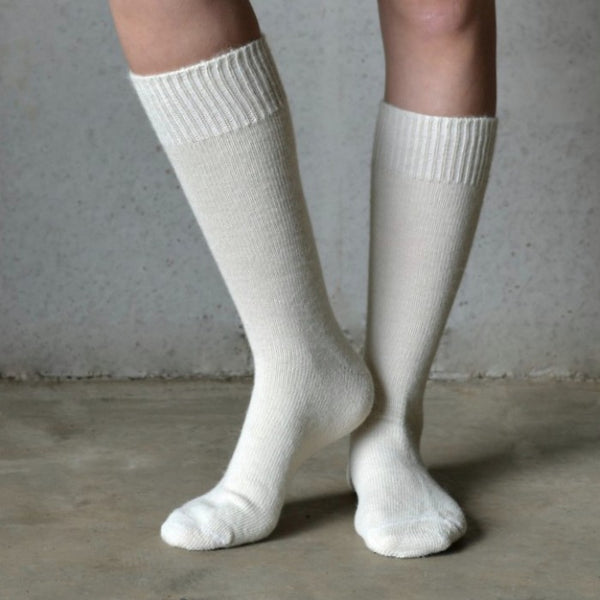 Cream Alpaca Socks - Tom Lane