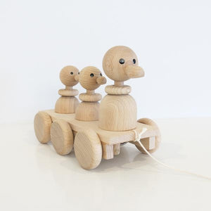Duck Family - Wooden Pull-Along Toy