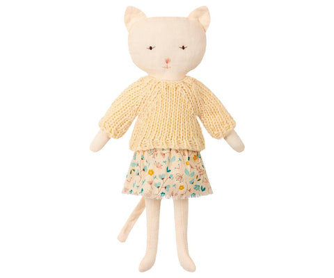 Maileg - Cat with Knit Jumper (Off White)