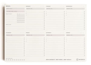 MiGoals - Weekly Productivity Pad