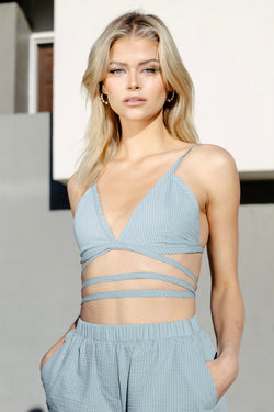 RYAN CRISS CROSS BRALETTE SKY