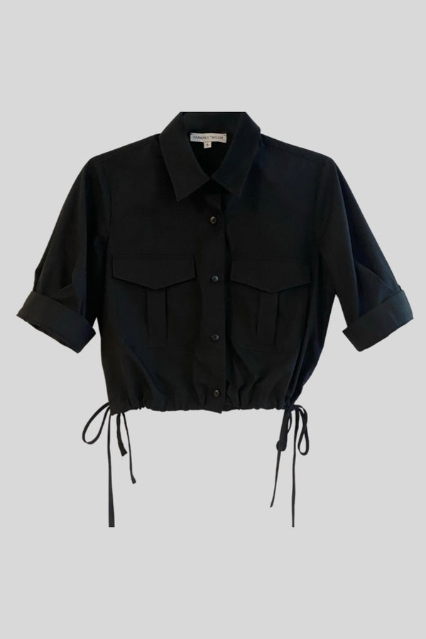 SOHO UTILITY CROP SHIRT BLACK