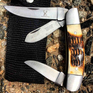 Utility Bone Pocket Knife