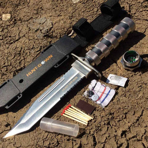 Silver Survival Knife