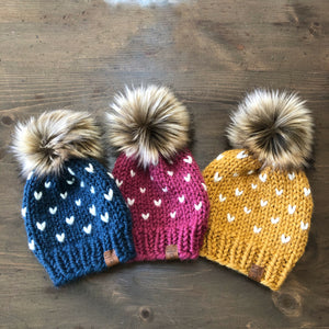 Little Hearts Child Toddler Baby Toque