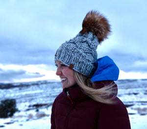 Driftwood Adult Toque with Faux Fur Pompom